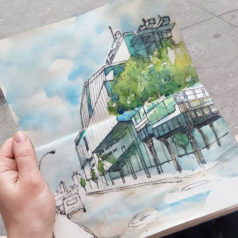 Urban Architecture Sketching NYC: Whitney Museum