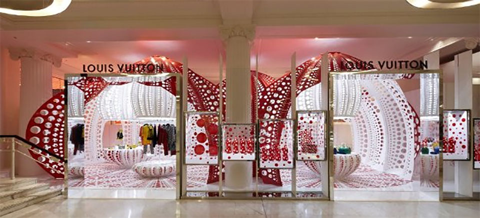 Yayoi Kusama Louis Vuitton popup shop in Selfridges London 2013