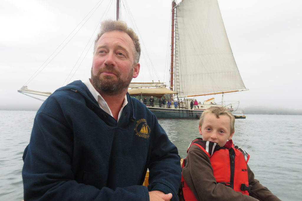 Captain Noah and young Captain Oscar Schooner Stephen Taber
