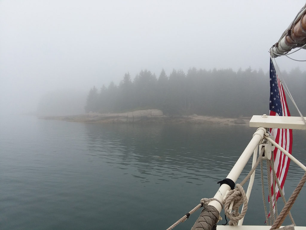 Maine Stephen Taber Russ Island Fog