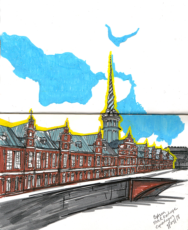 Borson Sketching Architecture Design Copenhagen Denmark Art Culture Urban Planning Sustainability Sketchbook