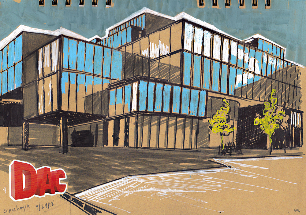 Blox building Copenhagen BLOXHUB Architecture Sketching Architecture Design Copenhagen Denmark Art Culture Urban Planning Sustainability Sketchbook