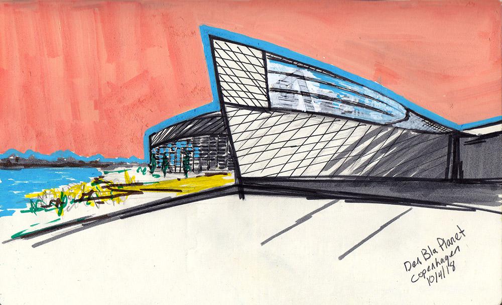 Sketching Architecture Design Copenhagen Denmark Art Culture Urban Planning Sustainability Aquarium
