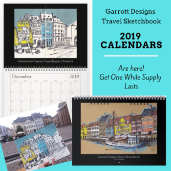 travel sketchbook 2019 calendars sketches, travel urban sketchers art calendars shop