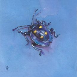 Big Little Bugs Purple Bug insect art interior decor hospitality paintings home decor