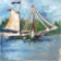 Schooner Stephen Taber Sailboat Watercolor Art