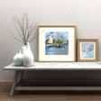Maritime Framed Art Decor Prints Watercolor