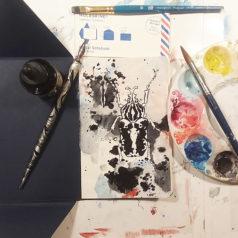 Art Collector Original Watercolor Art Garrott Designs Moleskine Postal Notebooks