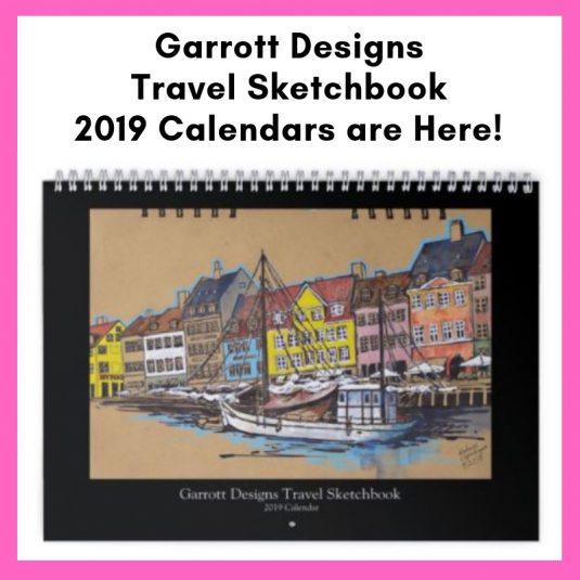 2019 travel sketchbook calendar urban sketchers sketch travel shop calendars